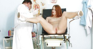 Kind Denisa Heaven undresses and obeys to every doctor's wish