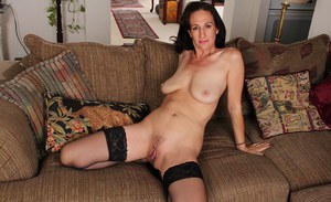 Astounding mature lady Genevieve Crest in a hot posing scene