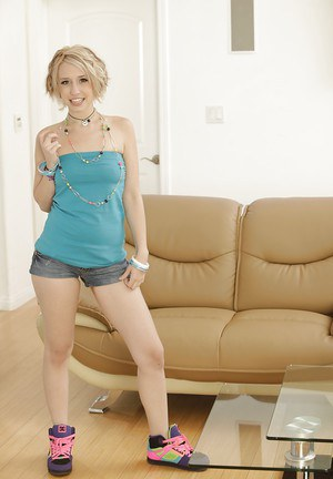 Clothed beauty Proxy Paige is undressing for her fans on camera