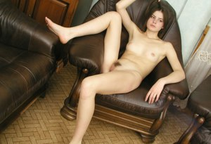 Gorgeous amateur lady Masha is posing in her sexy high heels