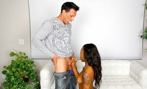 Ebony girl Stacy Cream is having her tight asshole fucked hardcore