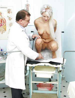 Slutty Kristina Rud spreading pussy to make her doctor pleased