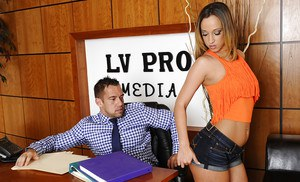 Super sweet office lady Jada Stevens is fucking with her boyfriend