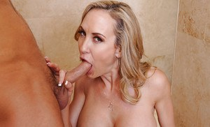 Blonde cougar Brandi Love is ridding a big cock of her new lover