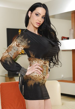 Awesome posing scene from an office babe with big tits Amy Anderssen