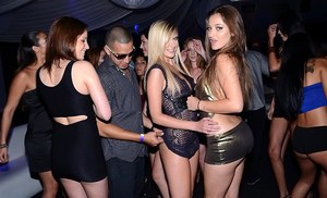 Bright pornstars with delicious forms enjoying a real sex party