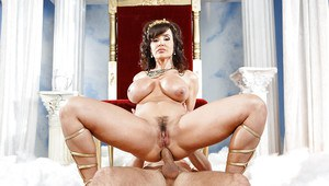 Fit brunette mature lady Lisa Ann is having sex with a younger boy