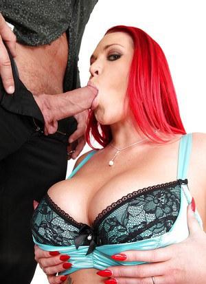 Great blowjob done by an superb pornstar with big tits Paige Delight