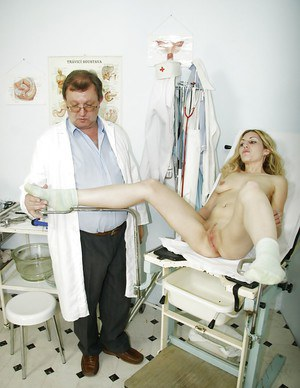 Slutty Sam prefers undressing in front of her naughty doctor