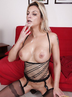 Klarisa Leone playing with two wieners and getting the best drill