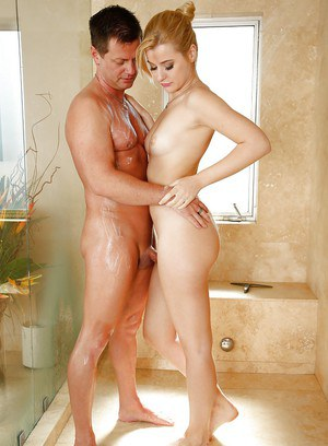 Charlyse Angel and her boyfriend having fun while taking shower