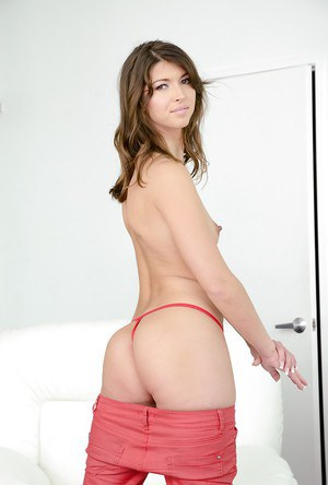 Cute brunette Susan spreading that ass and tight pussy