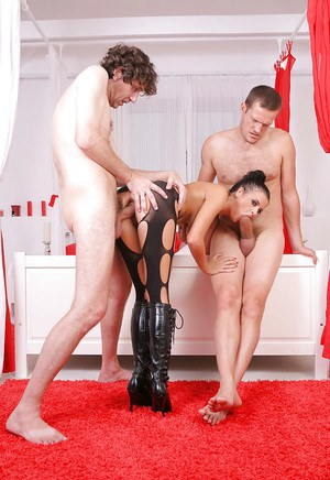 European babe Candy loves to be in a hardcore anal threesome