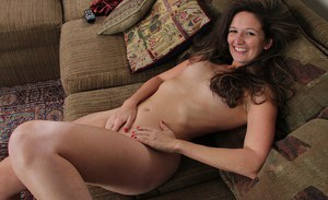 Romantic milf Stephanie Roberts playing with a huge vibrator