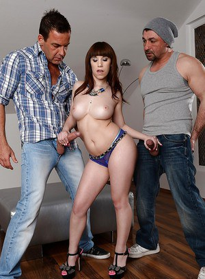 Kinky pornstar Brenda Martinez gets a double penetration at last