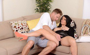 Jade Steele kissing with a friend and swallowing his dagger