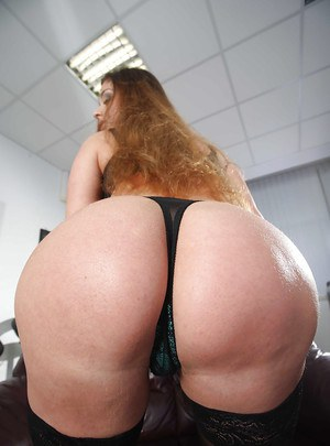 Huge ass girl Cathy undressing her secretary uniform and touching herself