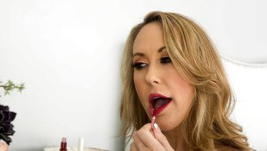 Blonde wife Brandi gets ready to being hard and deep fucked