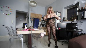 Cute and nasty Vittoria is a wife that loves her underwear and toys
