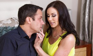 Big tit brunette Kendra Lust sucks a dick and gets fucked in her cunt