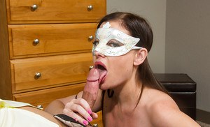Big tit brunette Sovereign is a nasty wife that gives deep blowjobs