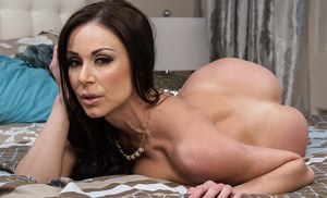 Amazing brunette milf Kendra showing her boobies and pussy