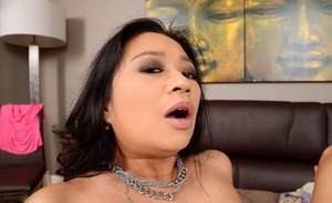 Big ass asian cougar Lucky giving blowjob and pussy fucking today
