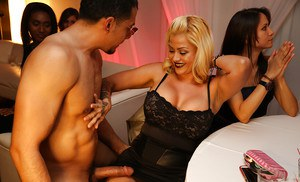 Amazing latina dick is having a great time at blowjob party