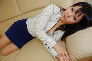 Nasty asian brunette Kayo undressing that beautiful white body