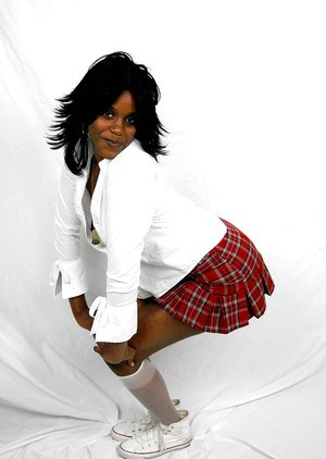 Ebony schoolgirl slut with a big ass Mocha undressing that body