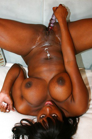 Big tit ebony babe Lickable masturbating that chocolate pussy