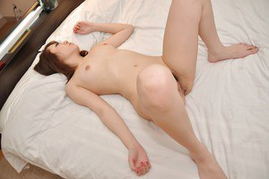 Stunning asian brunette Mari gives a blowjob and gets nailed