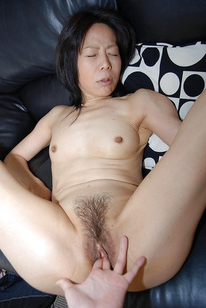 Beautiful asian hairy pussy gets hardcore licked and masturbated