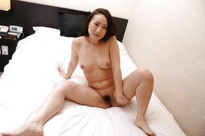 Amazing milf with cute tits and hairy pussy Eriko is a sexy babe