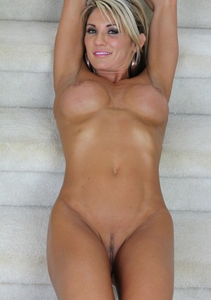 Big tit milf babe Mercedes speading her awesome shaved cunt