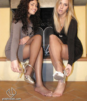 Amazing long leg babes Erica and Selene showing their stunning bodies