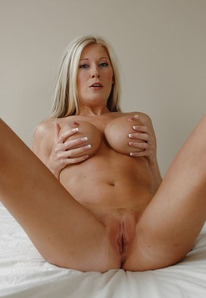 Blonde whore with sexy tits and body Michelle spreading her legs