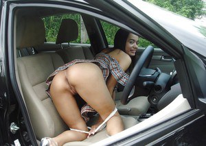 Lana Outsidecar enjoys masturbating on her boyfriends hot car