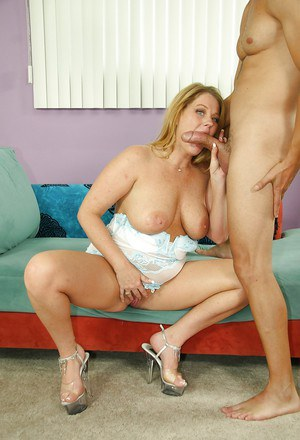 Kate Faucett will give an amazing blowjob and will let you cum in her