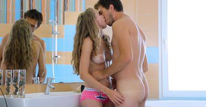 Reality porn scene of an outstanding teen in pink panties Kail
