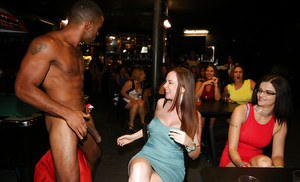 Interracial party is showing some outstanding blowjobs and handjobs done