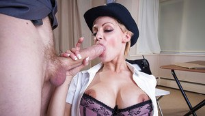Big cock is penetrating tight cunt of an office lady in a hot uniform Loulou