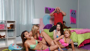 Teen party goes wrong with Alina Li, Carmen Caliente and their friends