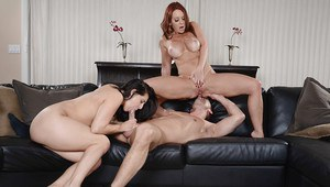 Reality milfs Gracie Glam and Janet Mason are taking part in a threesome