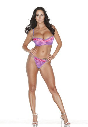 Ava Addams is dancing around in her perfect pink lingerie on camera