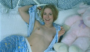 Teen amateur Jessica is horny after a good sleep and is fingering herself