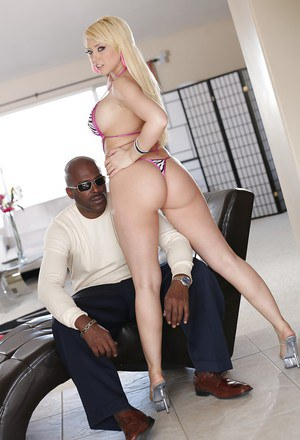 Big cock of an black dude is penetrating tight cunt of Lexington Steele