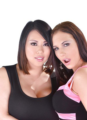 Brunette Asian Tigerr Benson is licked out nicely by Kyra Hot