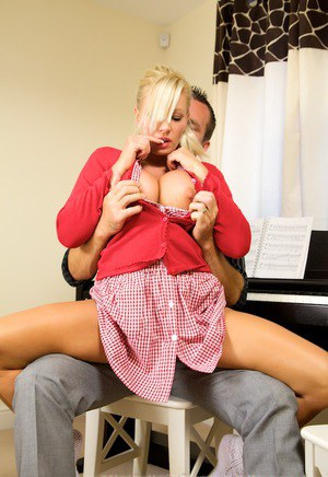Sexy teacher Michelle Thorne having sex with her handsome student