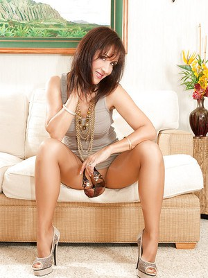 Roni as always wearing her pantyhose and seducing all of her boys